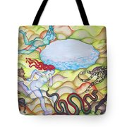 Eve Being Chased Out Of The Garden Of Eden Tote Bag
