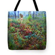 Eve Exiting Eden Tote Bag