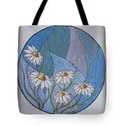 Even Daisies Get The Blues Tote Bag