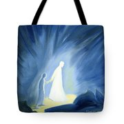 Even In The Darkness Of Out Sufferings Jesus Is Close To Us Tote Bag by Elizabeth Wang