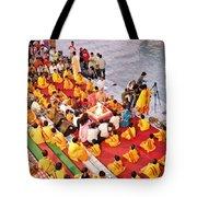 Evening Aarti - Rishikesh India Tote Bag