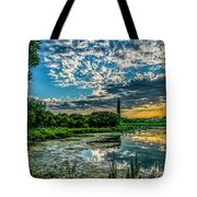 Evening Approaching Cape May Light Tote Bag