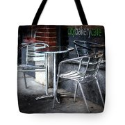 Evening At A Sidewalk Cafe Tote Bag