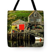 Evening At Peggys Cove Tote Bag