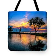 Evening At Riverwinds Tote Bag