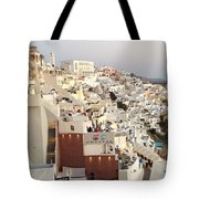 Evening At Santorini Tote Bag