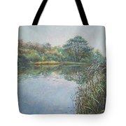 Evening At Southampton Common Lake Tote Bag