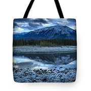 Evening At The Athabasca River Tote Bag