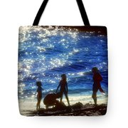 Evening At The Beach Tote Bag by Stephen Anderson