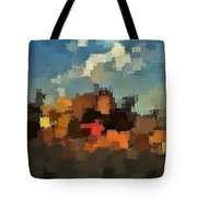 Evening At The Farm Tote Bag by David Manlove