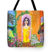 Evening At The Girl Cave Tote Bag
