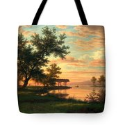 Evening Atmosphere By The Lakeside Tote Bag