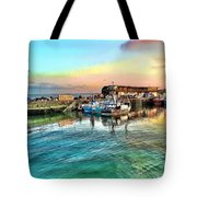 Evening Bridlington Harbour Tote Bag