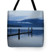 Tranquil Blue Priest Lake Tote Bag