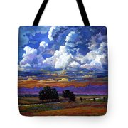 Evening Clouds Over The Prairie Tote Bag