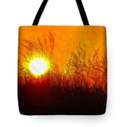 Evening Dunes Impasto Tote Bag
