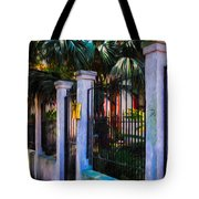 Evening Fence And Gate - Nola Tote Bag