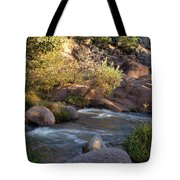 Evening Flow With Light Tote Bag