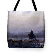 Evening Horseback Ride Tote Bag