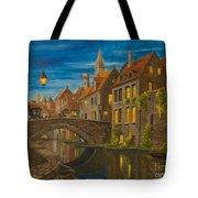 Evening In Brugge Tote Bag
