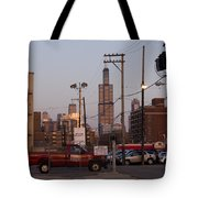 Evening In Chicago Tote Bag