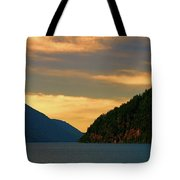 Evening Light At Lake Crescent Tote Bag