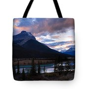 Evening Light In The Mountains Tote Bag
