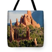 Evening Light On Garden Of The Gods Tote Bag