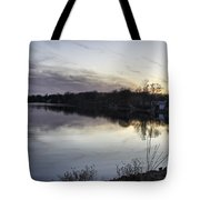 Evening Light On Lake Champlain Tote Bag