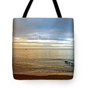 Evening Light On Shanklin Beach Tote Bag