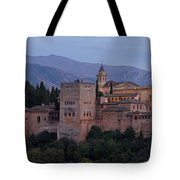 Evening Lights At The Alhambra Tote Bag