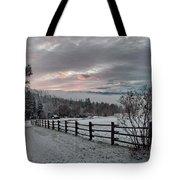Evening Mountain Glow Tote Bag
