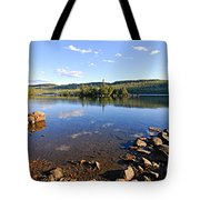 Evening On Cedar Lagoon Pine Lake Tote Bag