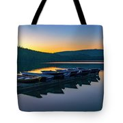 Evening On Lake Mcdonald Tote Bag