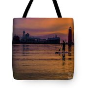 Evening On Lake Michigan At Grand Haven Tote Bag