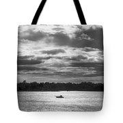 Evening On South River - Bw Tote Bag