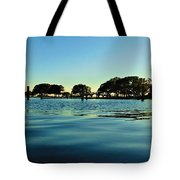 Evening On Water Tote Bag