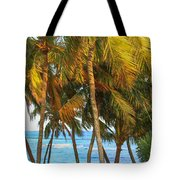 Evening Palms In Trade Winds Tote Bag