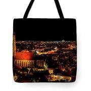 Evening Panorama - Landshut Germany Tote Bag