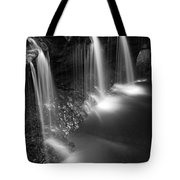 Evening Plunge Waterfall Black And White Tote Bag