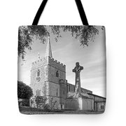 Evening Prayers In Black And White Tote Bag