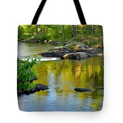Evening Reflections At Lower Basswood Falls Tote Bag