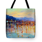 Evening Reflections In Piermont Dock Tote Bag