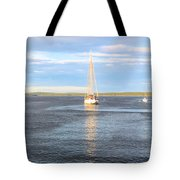 Evening Sail In Frenchman's Bay Tote Bag