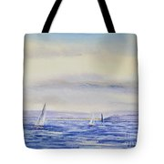 Evening Sail On Little Narragansett Bay Tote Bag