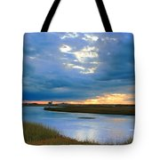 Evening Sky Over Hatches Harbor, Provincetown Tote Bag