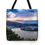 Evening Sky Over Rio De Janeiro Tote Bag