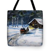 Evening Sleigh Ride Tote Bag