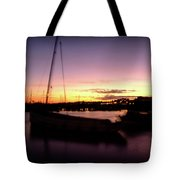 Evening Sun On Harbour Tote Bag