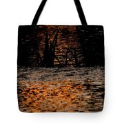 Evening Sun On Small River Tote Bag